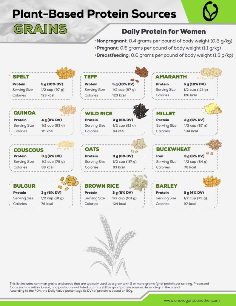 Plant-Based Protein Sources GRAINS