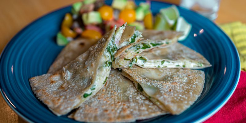 Arugula-Apple Quesadillas
